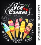 ice cream collection. set on... | Shutterstock .eps vector #465645995