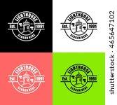 lighthouse logo design template | Shutterstock .eps vector #465647102