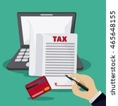 tax and financial item concept... | Shutterstock .eps vector #465648155