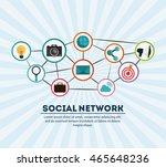 social network concept... | Shutterstock .eps vector #465648236