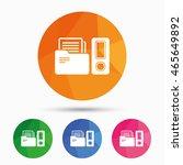 document folder sign.... | Shutterstock .eps vector #465649892