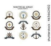 nautical logo design template... | Shutterstock .eps vector #465662402