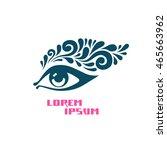 vector eye icon. logo design... | Shutterstock .eps vector #465663962
