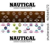 nautical logo design template | Shutterstock .eps vector #465664172