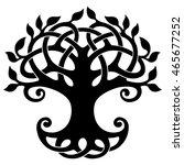 vector ornament  decorative... | Shutterstock .eps vector #465677252