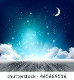 beautiful magical night... | Shutterstock .eps vector #465689516