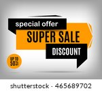 sale banner design. discount... | Shutterstock .eps vector #465689702