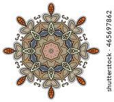 mandala flower decoration ... | Shutterstock .eps vector #465697862
