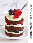 Small photo of Cake with currants. Cake sweet dessert