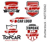 set of modern car logo and... | Shutterstock .eps vector #465732062