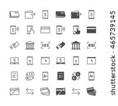 internet banking icons ... | Shutterstock .eps vector #465739145