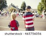 kids watching an independence... | Shutterstock . vector #465756056