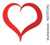 simple red heart sharp vector... | Shutterstock .eps vector #465757292