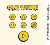game button set. game assets... | Shutterstock .eps vector #465801812