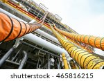 hose line installed in oil and... | Shutterstock . vector #465816215
