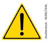 hazard warning sign with... | Shutterstock .eps vector #465817646