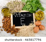 natural foods high in a vitamin ... | Shutterstock . vector #465817796