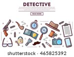 table top view with private... | Shutterstock .eps vector #465825392