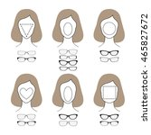 different glasses shapes for... | Shutterstock . vector #465827672