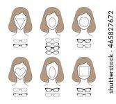 different glasses shapes for... | Shutterstock . vector #465827672