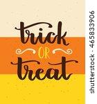 vector hand written lettering... | Shutterstock .eps vector #465833906