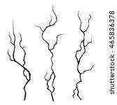 wall cracks set on white...   Shutterstock .eps vector #465836378