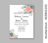 wedding invitation template... | Shutterstock .eps vector #465842102