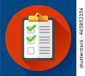 vector clipboard with green... | Shutterstock .eps vector #465852356