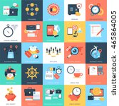 business concepts vector icons... | Shutterstock .eps vector #465864005