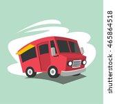food truck illustration vector   Shutterstock .eps vector #465864518