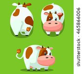 cute round animals  stylized... | Shutterstock .eps vector #465866006