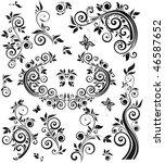Vintage Floral Black Design