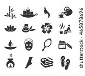 spa icon set vector  | Shutterstock .eps vector #465878696
