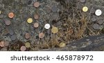 old money and many coins on the ... | Shutterstock . vector #465878972