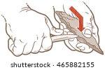 vector illustration of how to... | Shutterstock .eps vector #465882155