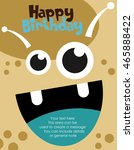 monster party card design.... | Shutterstock .eps vector #465888422