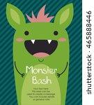 monster party card design.... | Shutterstock .eps vector #465888446