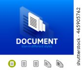 document color icon  vector... | Shutterstock .eps vector #465905762