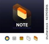 note color icon  vector symbol...