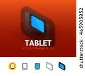 tablet color icon  vector...