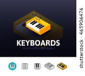 keyboards color icon  vector...