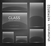 transparent vector glass blank... | Shutterstock .eps vector #465908522