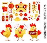 vector set of characters and... | Shutterstock .eps vector #465912575