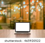 blank screen laptop computer... | Shutterstock . vector #465920522