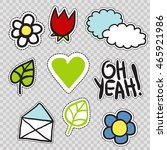 set of trendy patches elements  ... | Shutterstock .eps vector #465921986