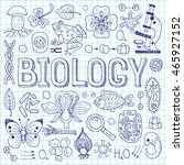 biology hand drawn vector... | Shutterstock .eps vector #465927152