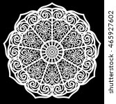 lace round paper doily  lacy... | Shutterstock .eps vector #465927602