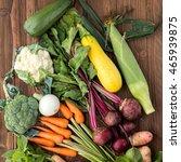 fresh vegetables  beet  carrot  ... | Shutterstock . vector #465939875