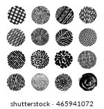 hand drawn textures and brushes | Shutterstock .eps vector #465941072