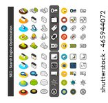 set of icons in different style ... | Shutterstock .eps vector #465944072